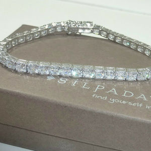 Silpada Sterling Silver CZ Tennis Bracelet NEW